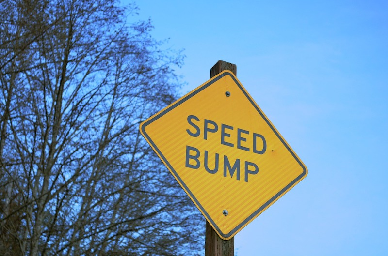 asphalt speed bump